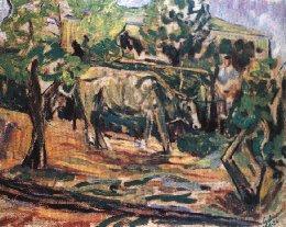 Quadro: Eugenio Galiano, Mucca e pastore, 1954